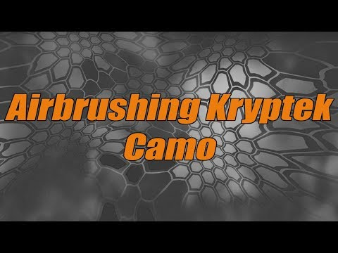 Airbrushing Kryptek Camo