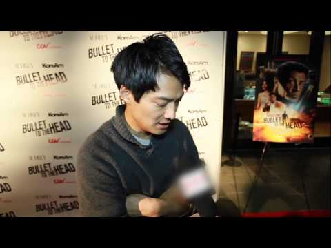 Brian Tee, Archie Kao & James Kyson s: Bullet to the Head Red Carpet