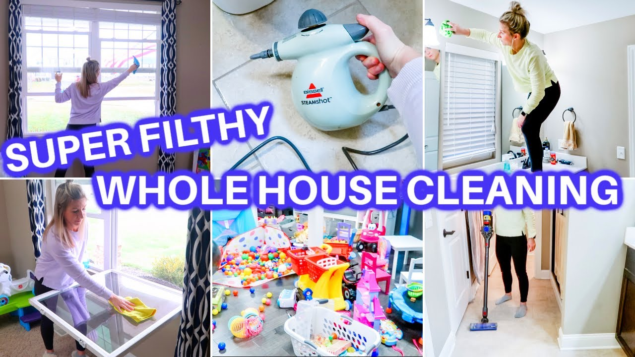 *FILTHY* EXTREME WHOLE HOUSE CLEAN WITH ME | ALL DAY SPEED CLEANING MOTIVATION | CLEANING ROUTINE