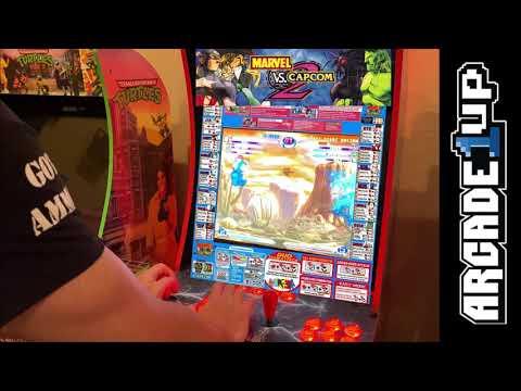 Marvel Vs Capcom 2 Running on Modded Arcade1up 4k 60fps from Kelsalls Arcade
