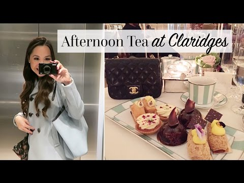 London Vlog: Afternoon Tea at Claridges & a Harrods Sale Haul!