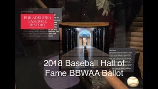 2018 Baseball Hall of Fame BBWAA Ballot