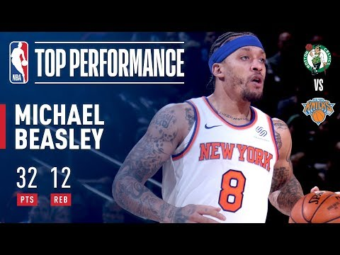 Michael Beasley Scores Season High 32 pts & Fires Up The Garden Crowd!