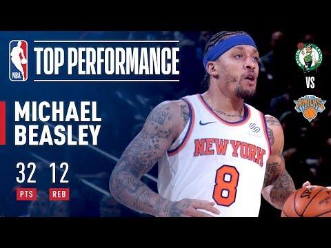 Michael Beasley Scores Season High 32 pts & Fires Up The Garden Crowd!