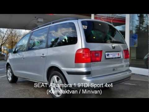 seat alhambra 1 9tdi sport 4x4 kompaktvan minivan garage zimmerli ag occasion youtube. Black Bedroom Furniture Sets. Home Design Ideas