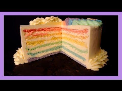 Rainbow kuchen backen