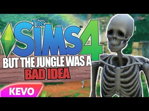 Sims 4 but the jungle was a bad idea