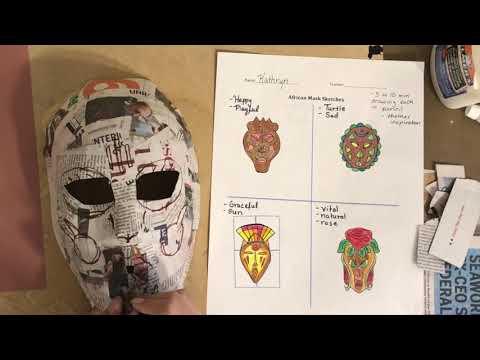 African Mask Paper Mache