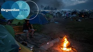 Refugees brave another night at Greece's border camp