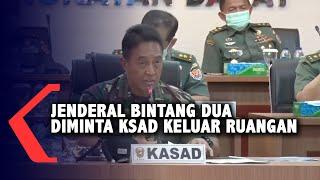 KSAD Andika Perkasa Minta Jenderal Bintang Dua Keluar Ruangan