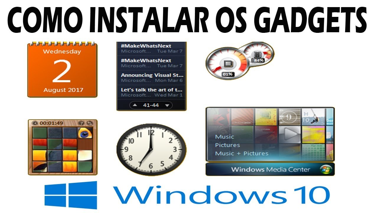 Como Instalar Os Gadgets No Windows 10