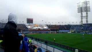 Перфоманс фанатов Зенита на матче против Динамо (11.05.2014)
