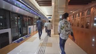 United Arab Emirates, Dubai, metro ride from BurJuman to Al Ghubaiba