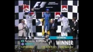 Fernando Alonso első győzelme (2003 Magyar Nagydíj)