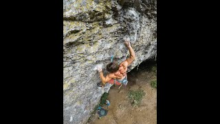"First Ascent of ""La Super Nera"" 8c in Baratro, Italy - Sportclimbing, Climbing"