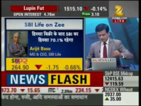 Mr. Arijit Basu | MD & CEO | SBI Life | Zee Business | Mid Cap Bazaar
