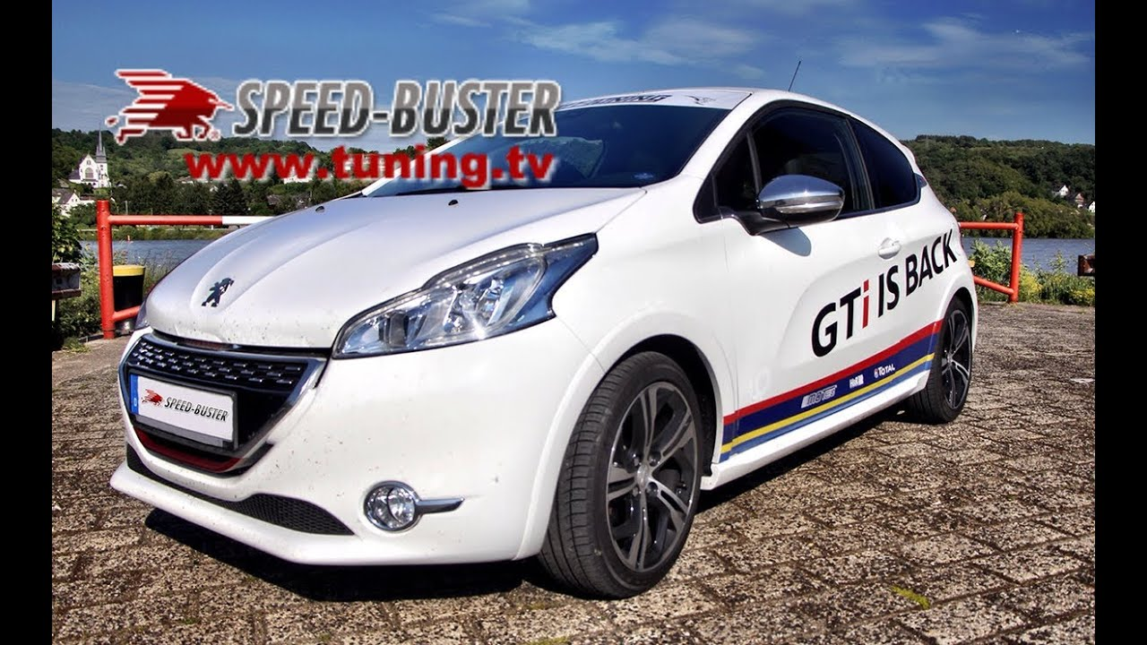 peugeot 208 gti with speed buster chiptuning box youtube. Black Bedroom Furniture Sets. Home Design Ideas