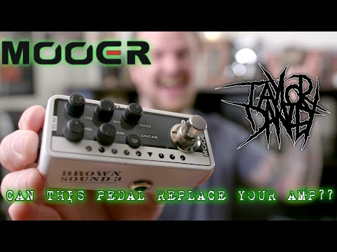 Mooer Micro Preamp 005 Brown Sound Demo With A 4 X 12 Cabinet. Can A Pedal Replace A Tube Amp?
