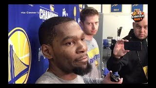Kevin Durant on the Cavaliers trades, says he feels sorry for Isaiah Thomas