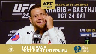 TAI TUIVASA POST FIGHT INTERVIEW - UFC 254