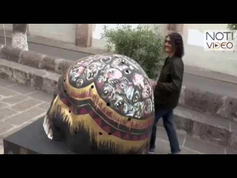 Talento michoacano, autor de las obras por día de muertos