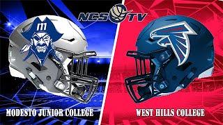 Modesto Junior College vs West Hills Coalinga Football LIVE 10/26/19