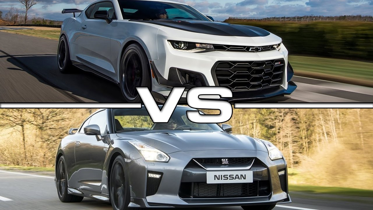 2018 Chevrolet Camaro Zl1 Vs 2017 Nissan Gt R Youtube