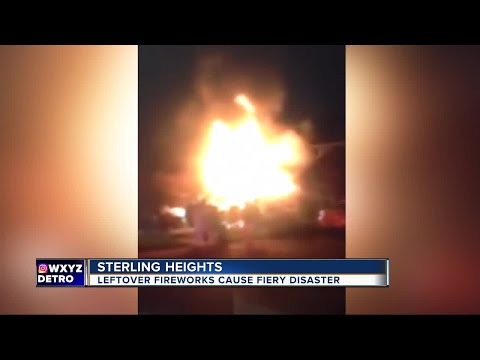 Sterling Heights homes damaged by fire triggered by fireworks