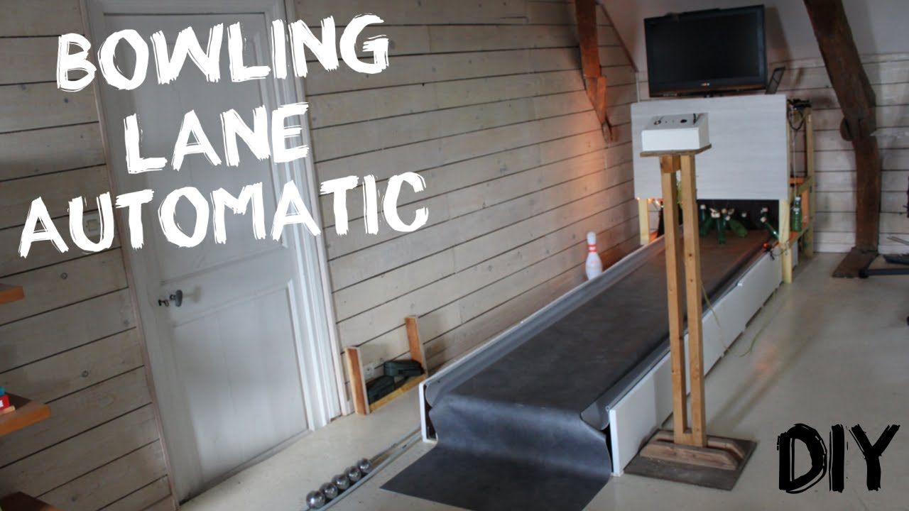 HOMEMADE BOWLING LANE AUTOMATIC !!!