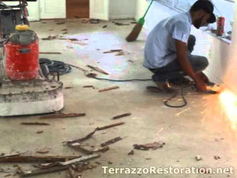 Terrazzo restoration tile removal doovi for How to remove stains from terrazzo floors