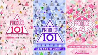 PRODUCE101 vs PRODUCE101 S2 vs PRODUCE48 (Debut, Main Vocal/Dance/Rapp, Center, Maknae, etc)