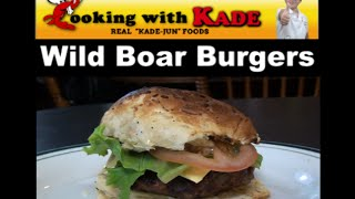 Cooking With Kade Makes Grilled Wild Boar Burgers On The Cajun Tv Network