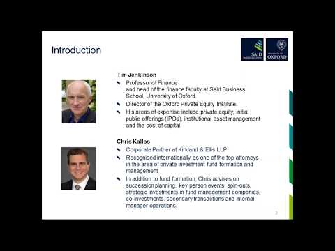 Webinar - Recent Private Equity Fund Developments