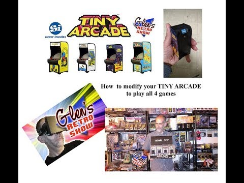 Mod your TINY Arcade to play all 4 games!