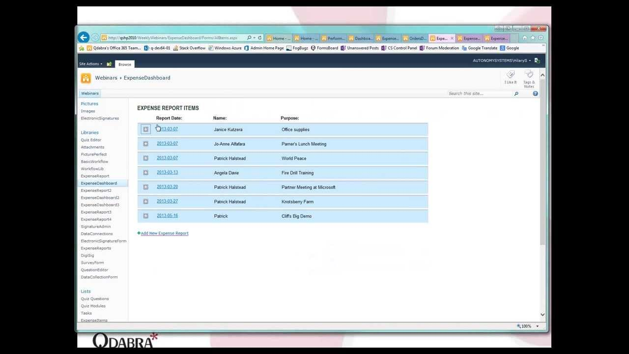 InfoPath: Reporting with Performance Point - May 23, 2013 Webinar