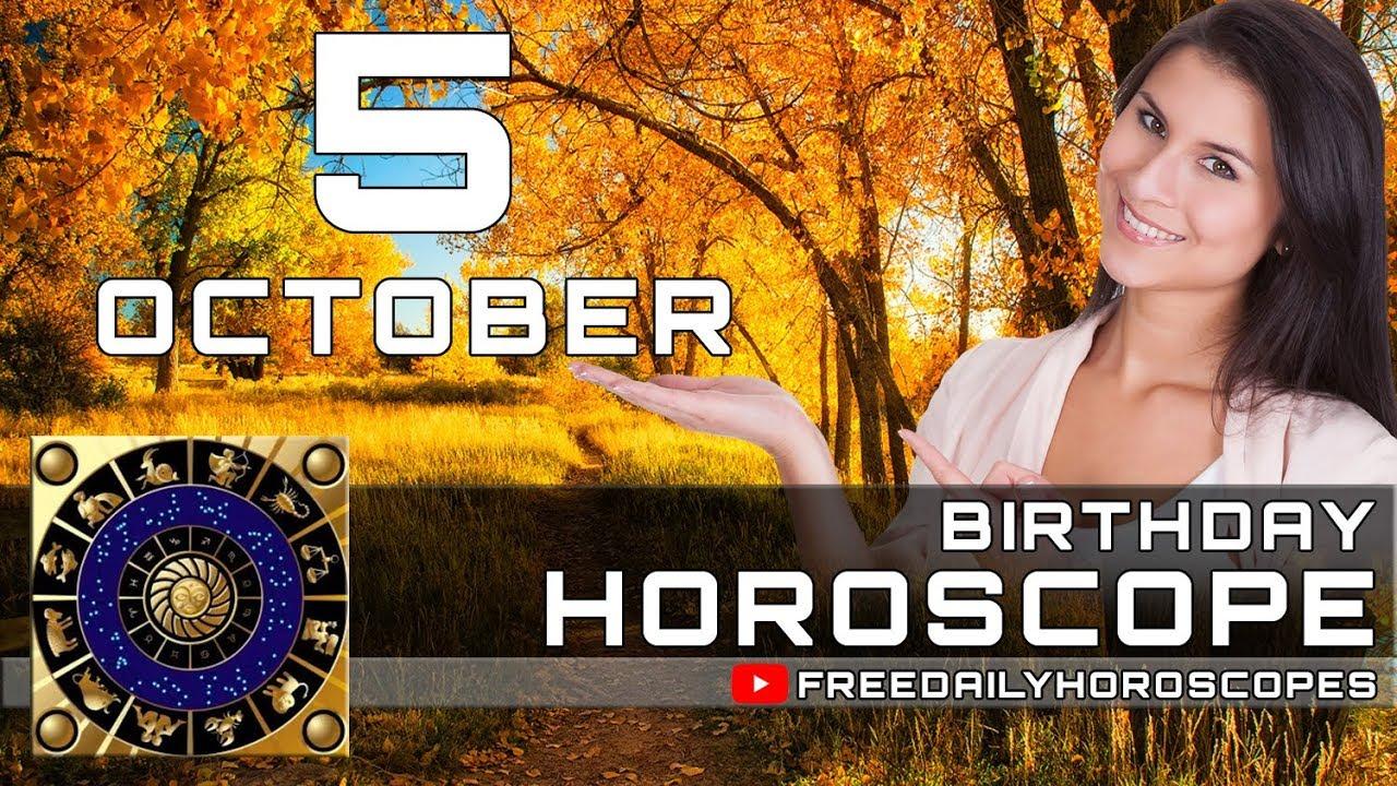 October 5 - Birthday Horoscope Personality