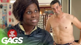 Guy Gets Naked For Donations - Just For Laughs Gags