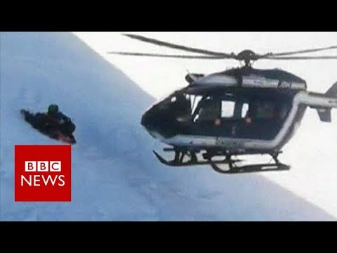 CK and Carmen - The Juice Crew - VIDEO: Helicopter Rescues Skier in French Alps Without Fully Landing