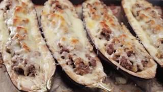 Баклажаны, фаршированные грибами и мясом