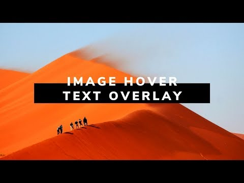 Awesome Image hover with Text overlay | How To Create Image Hover Overlay Effects