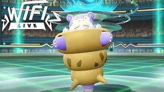 Pokemon Let's Go Pikachu & Eevee Wi-Fi Battle: Mega Slowbro Is Too Bulky! (1080p)