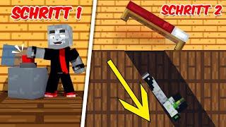 SCHRITT 1 Drücken - SCHRITT 2 RUTSCHEN?! - Minecraft Geheimgang [Deutsch/HD]