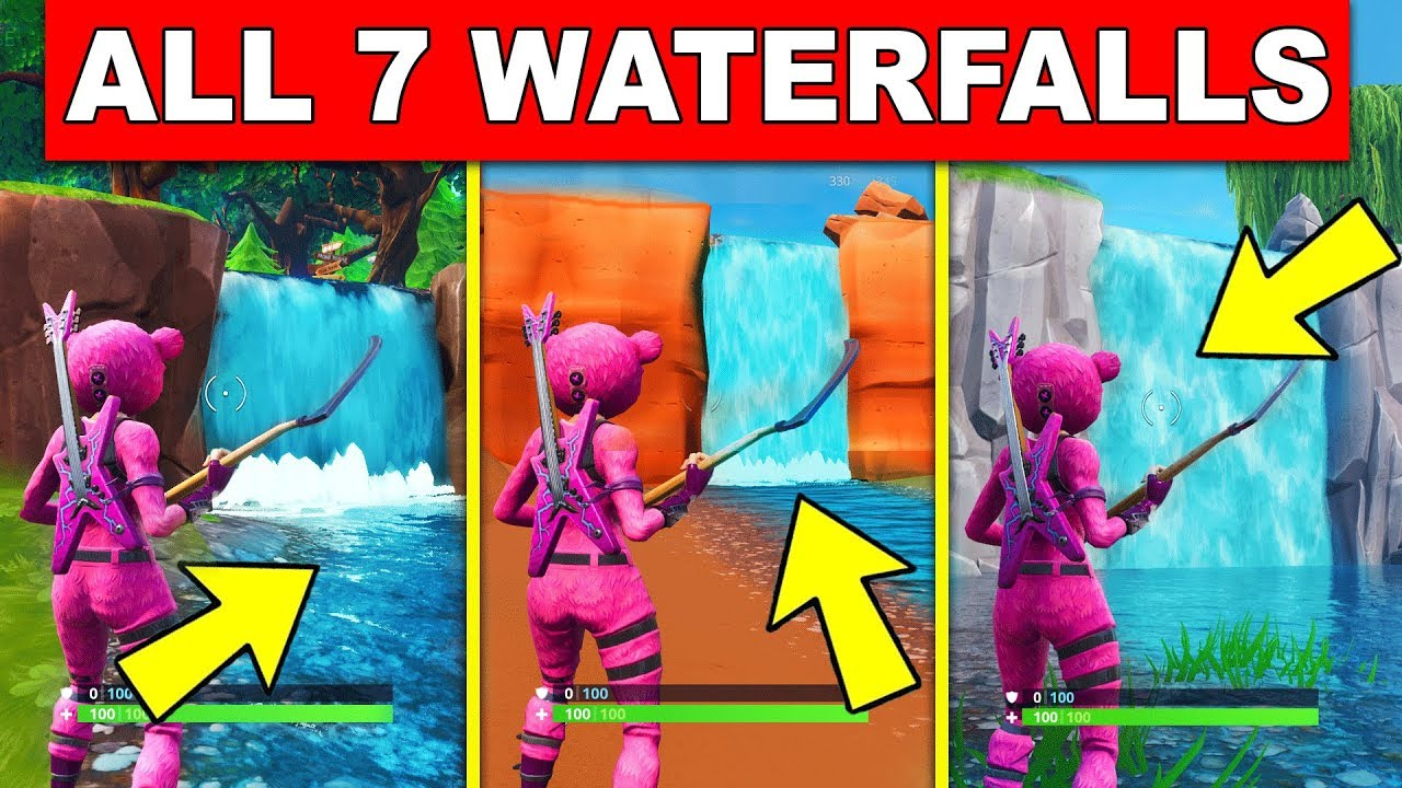 Visit Different Waterfalls All 7 Locations Fortnite Overtime