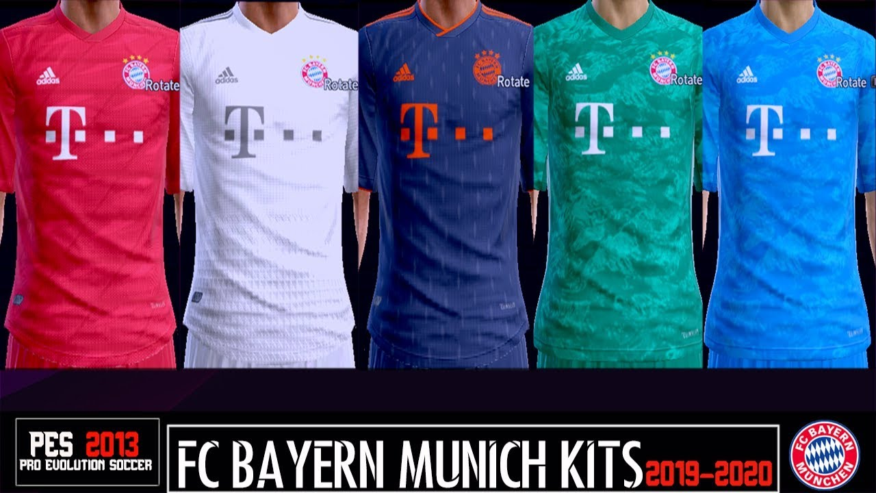 Pes 2013 New Kits Fc Bayern Munchen 2019 2020 Youtube