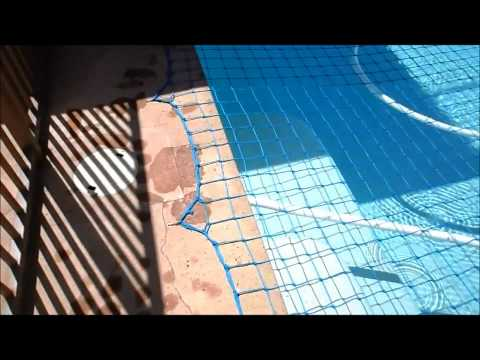 katchakid-pool-safety-net,-removal,-putting-on.-pool-safety-part-1-of-3