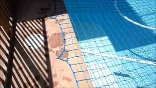 Katchakid Pool Safety Net, Removal, Putting on. Pool Safety Part 1 of 3