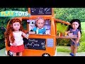 Baby Doll Food Car Truck with Cooking Play Toys!