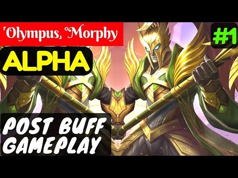 Post Buff Gameplay [Rank 4 Alpha] | ˹Olympus˼ °Morphy Alpha Gameplay and Build #1 Mobile Legends.