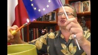 Cejrowski pali logo Unii Europejskiej #TegoNieByłowTV