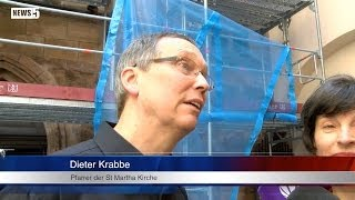 06.06.2014 (N) Große Anteilnahme nach Brand der St Martha Kirche in Nürnberg
